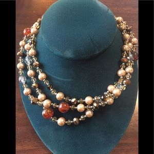 Stella & Dot Multi Tone Bead Necklace